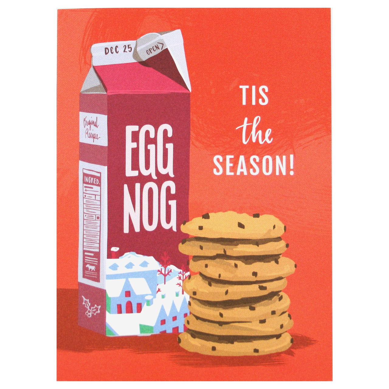 Eggnog and Cookies Holiday Card