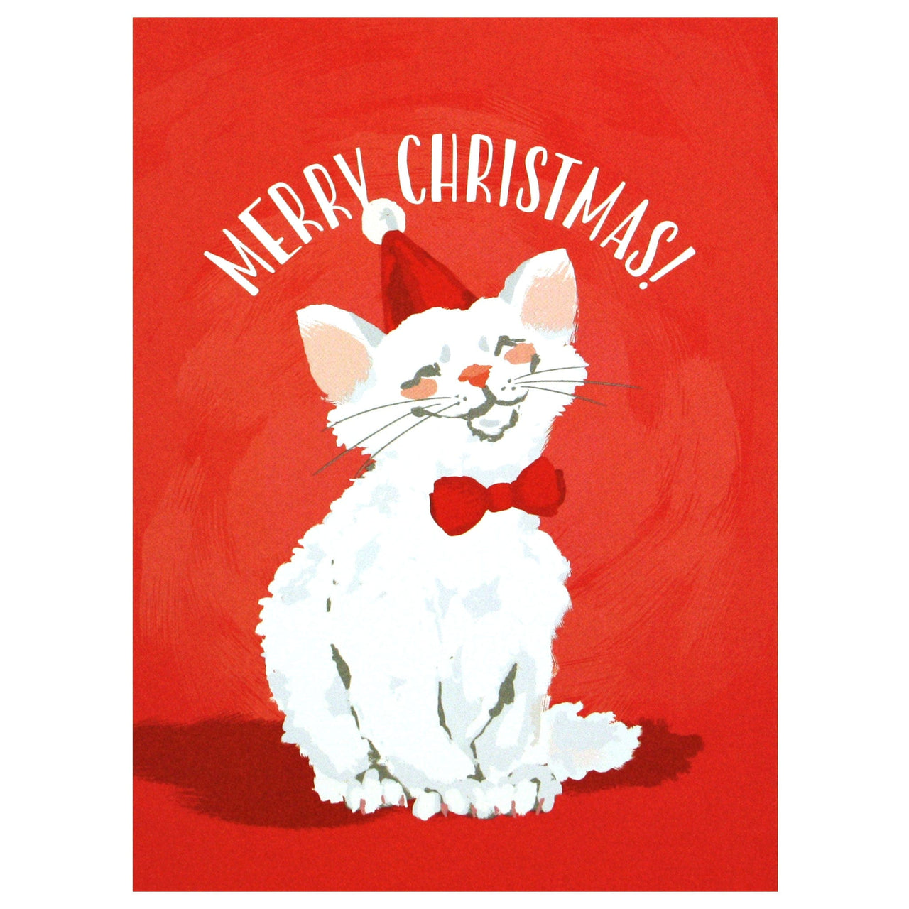 Merry Cat Christmas Card