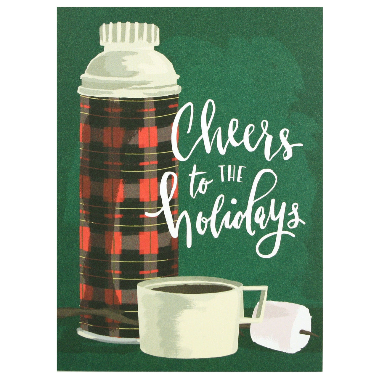 Plaid Thermos Holiday Card