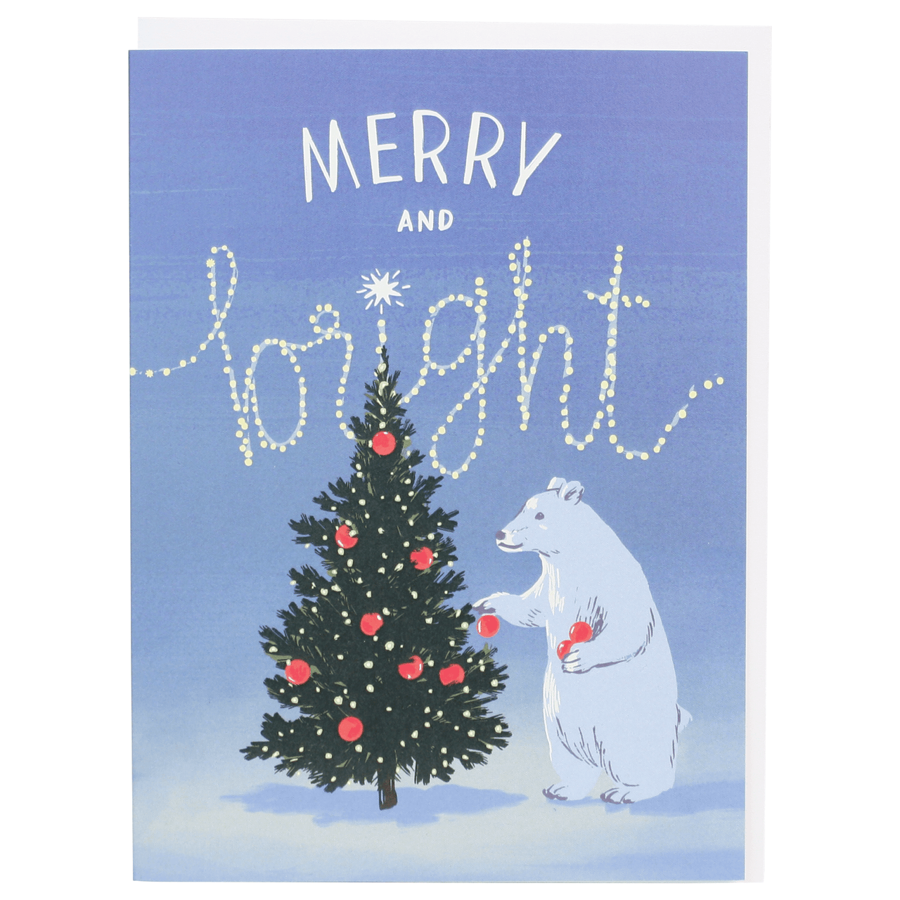 Polar Bear's Tree Christmas Card