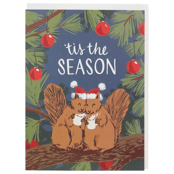 Squirrels with Cocoa Christmas Card
