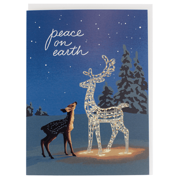 Fawn on a Winter's Night Holiday Card