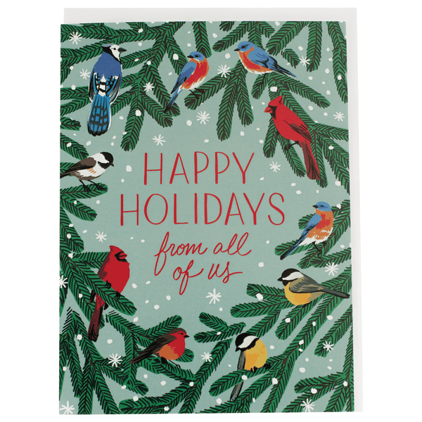 Winter Songbirds Holiday Card