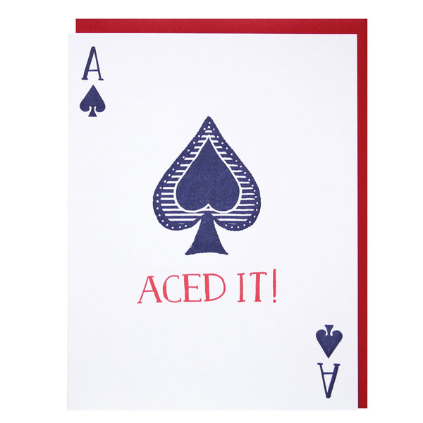 Aces of Spades Congratulations Card
