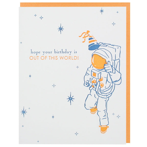 Astronaut Birthday Card
