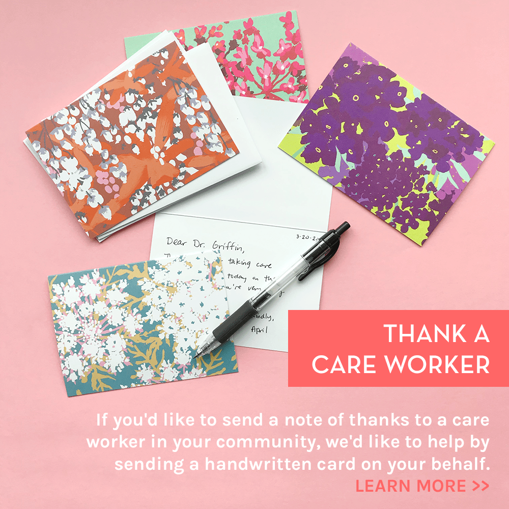 Thank You For Your Service Handwritten Card
