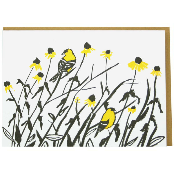 Goldfinches Note Card