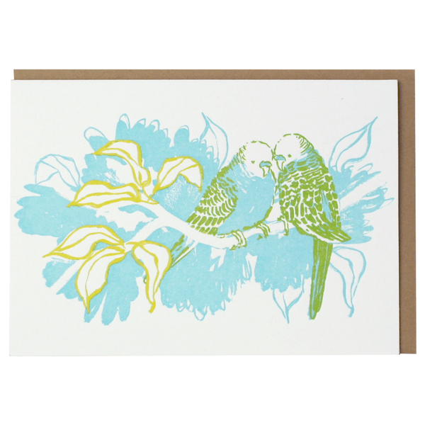 Budgies Note Card