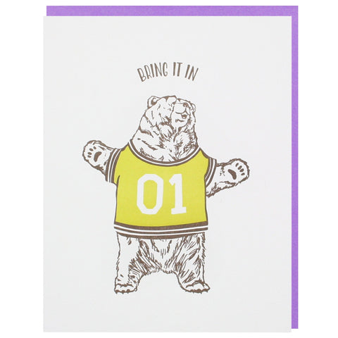 Bear Hug Father's Day Card