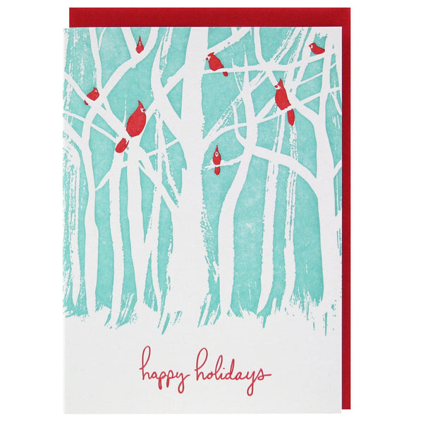 Birds in Woods Holiday Card