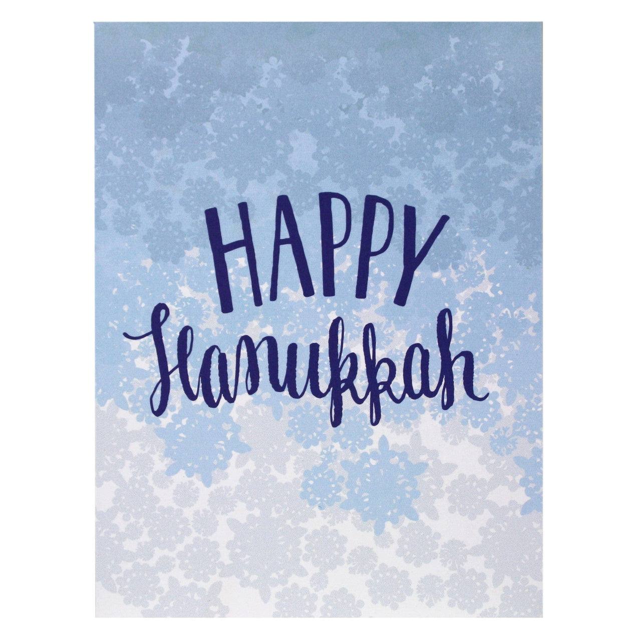 Blue Snowflake Hanukkah Card Hanukkah Cards Smudge Ink