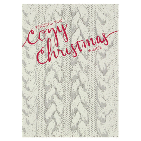 Cable Knit Christmas Card