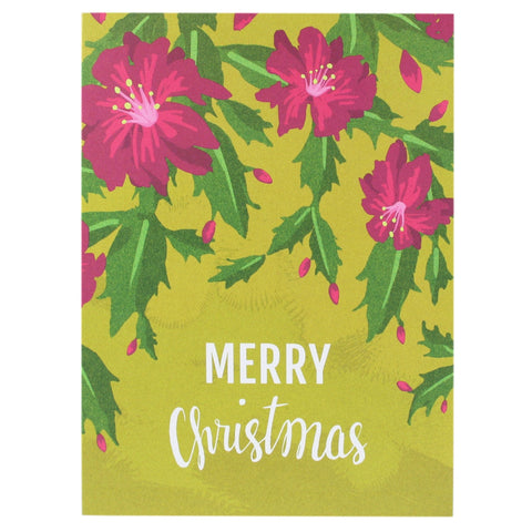 Cactus Blooms Christmas Card