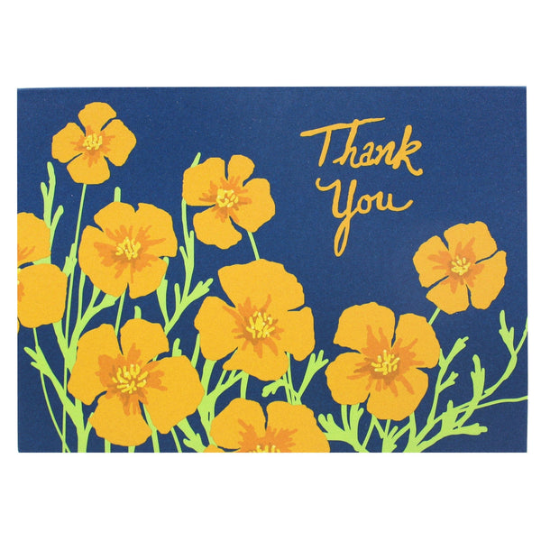 California Poppies Thank You Notes