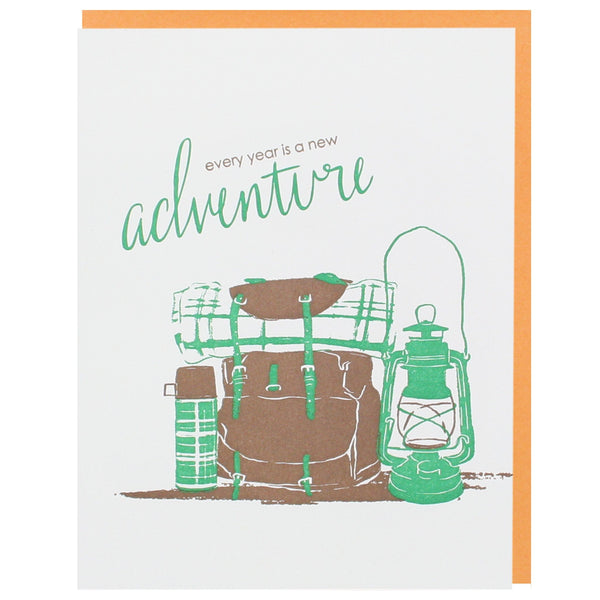 Camping Gear Birthday Card