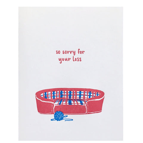 Cat Bed Pet Sympathy Card