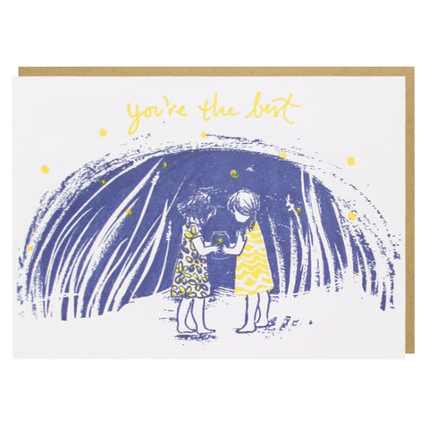 Catching Fireflies Friendship Card