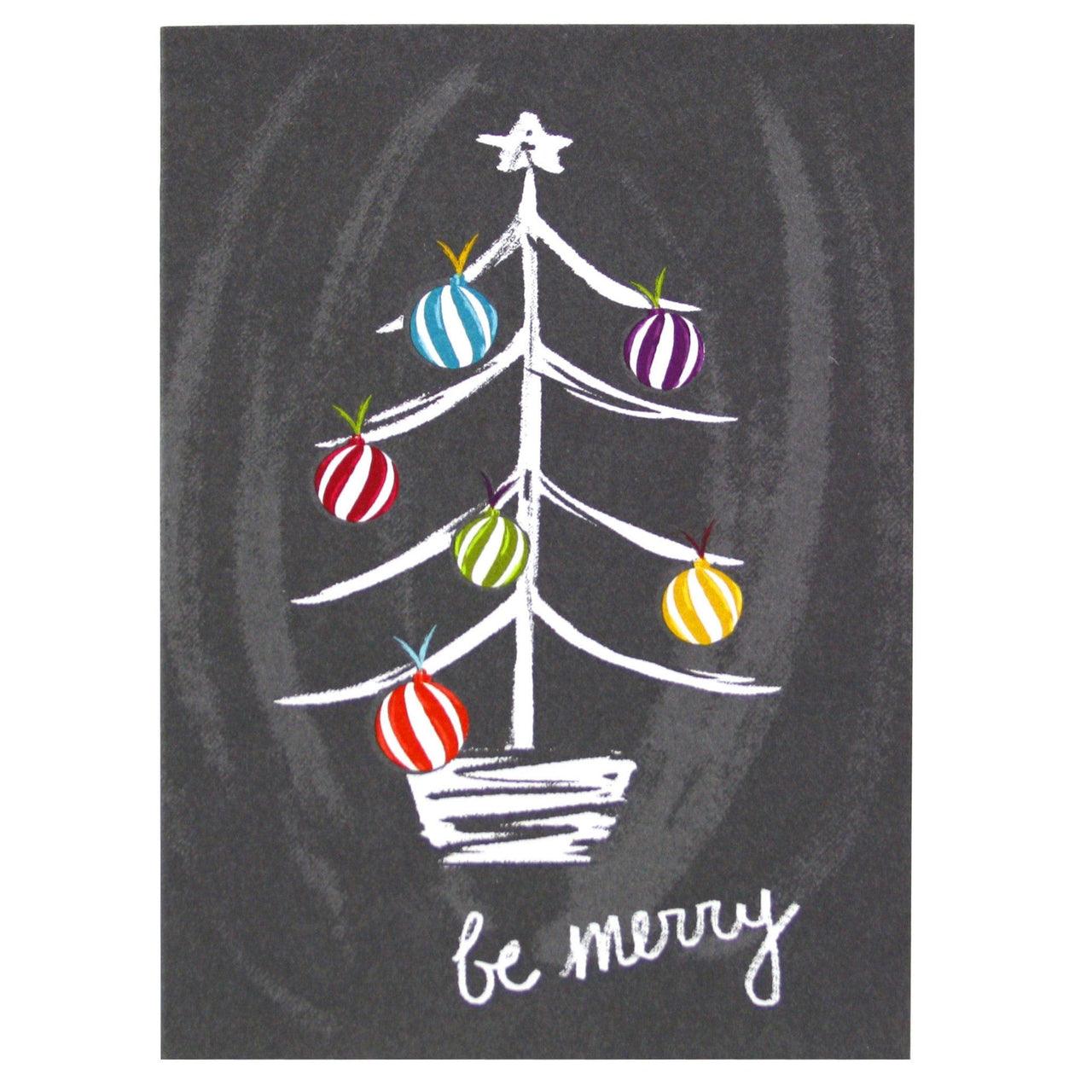 Chalkboard Christmas Tree Card   Merry Christmas Cards   Smudge Ink ...