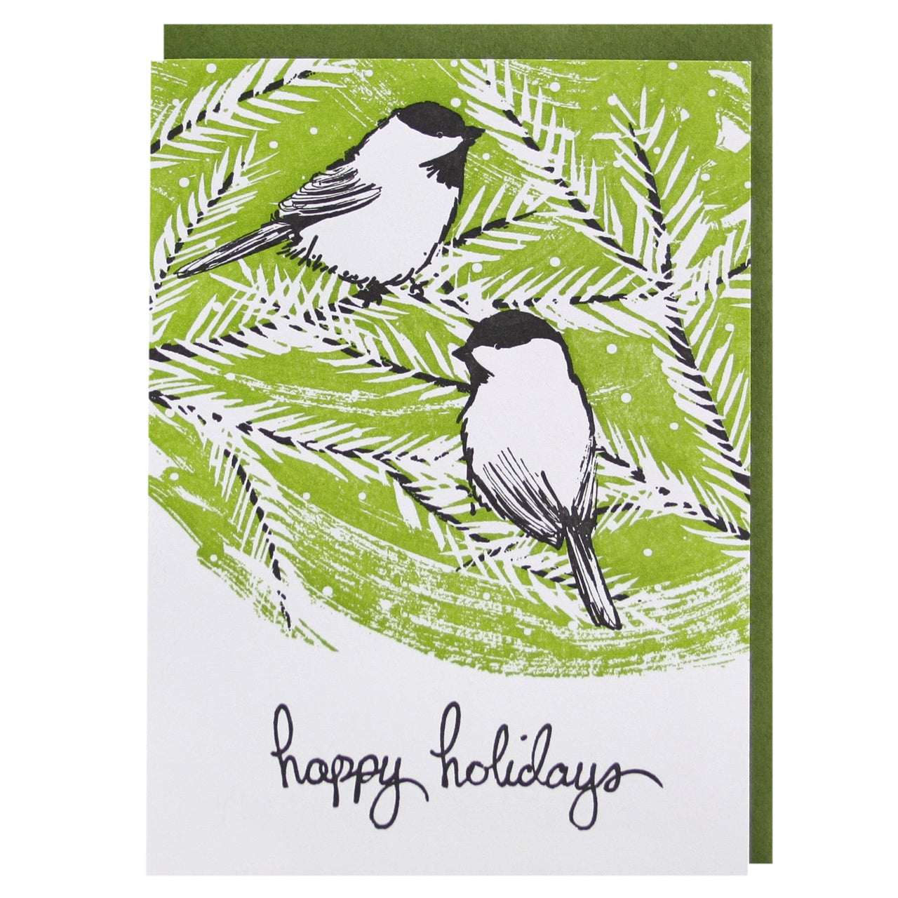 Chickadees Holiday Card