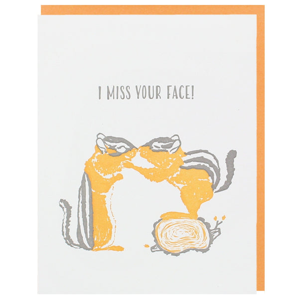 Chipmunk Nuzzle Friendship Card