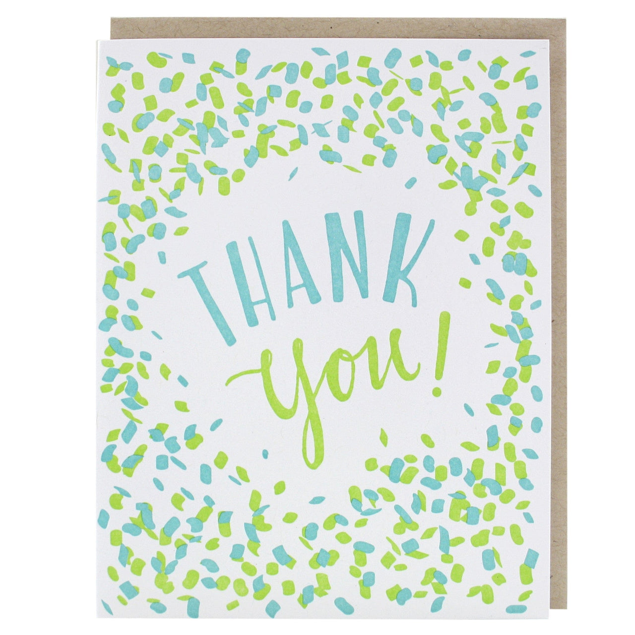confetti thank you card thank you cards smudge ink