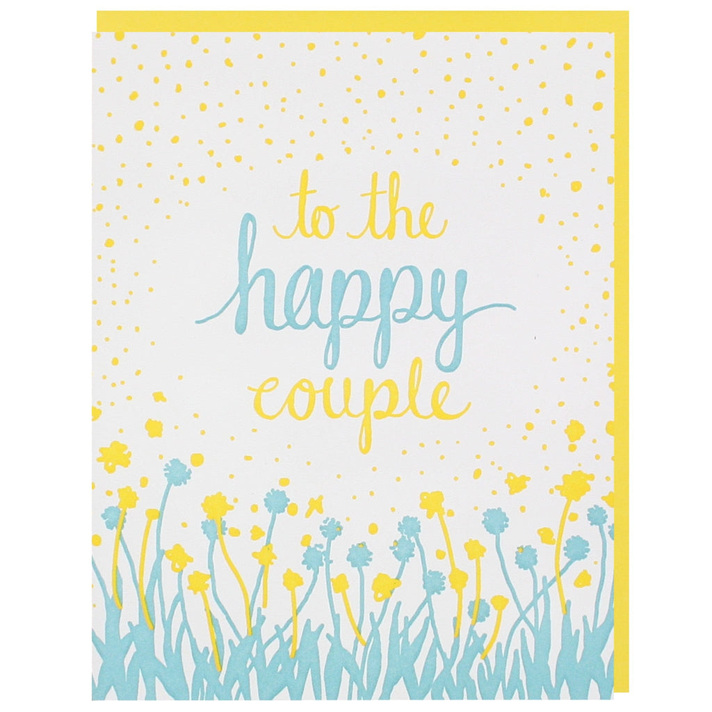 Dandelion Field Wedding Card