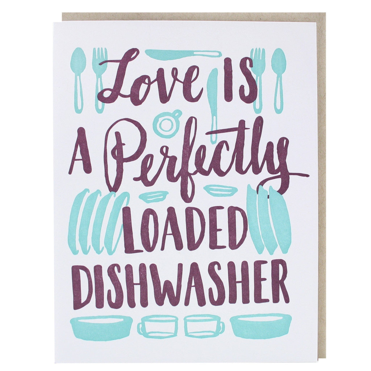 Dishwasher Love Card