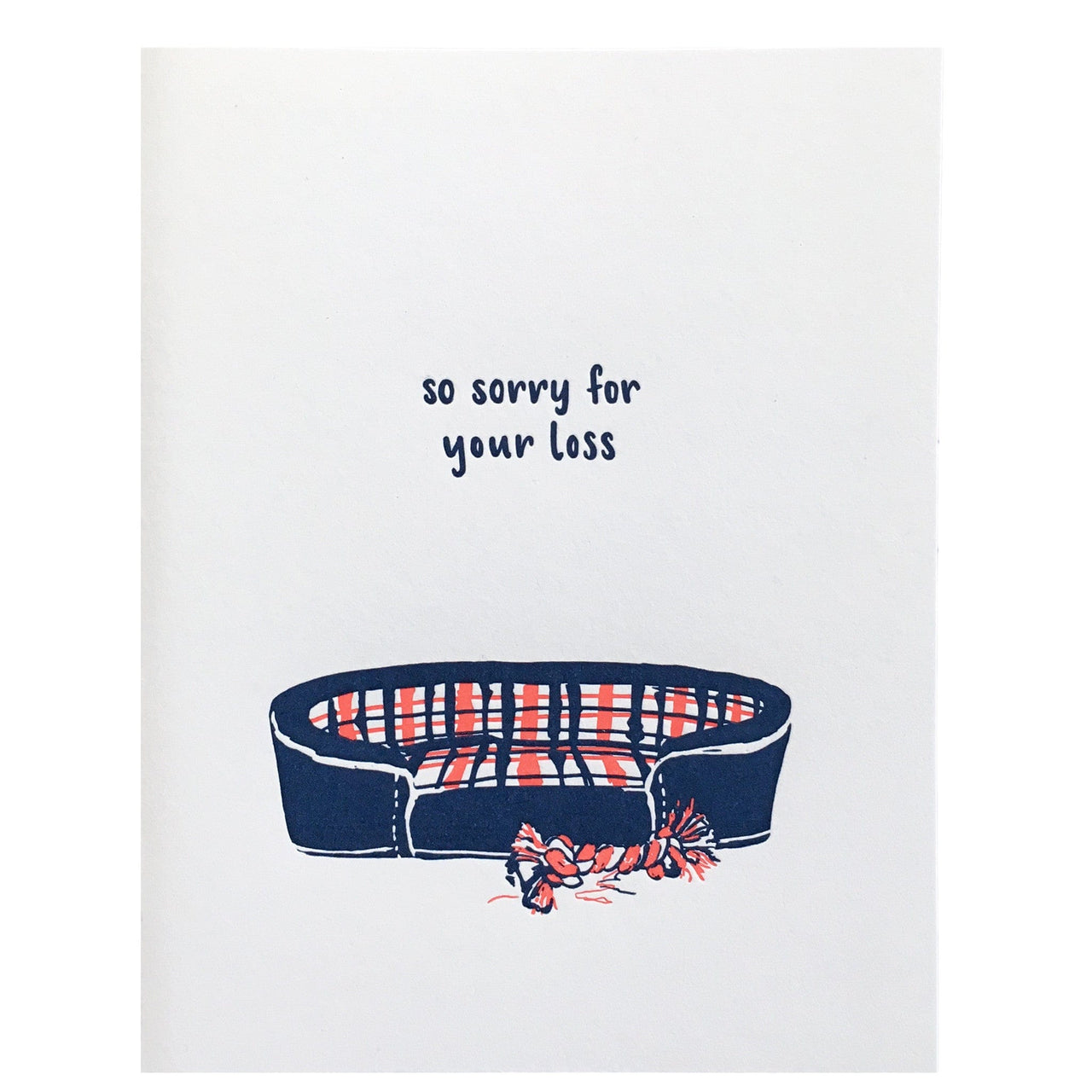 Dog Bed Pet Sympathy Card