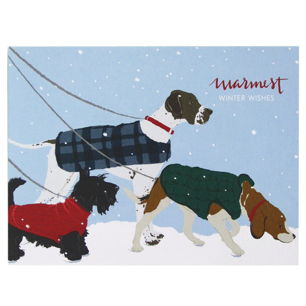 Dogs in Winter Holiday Card