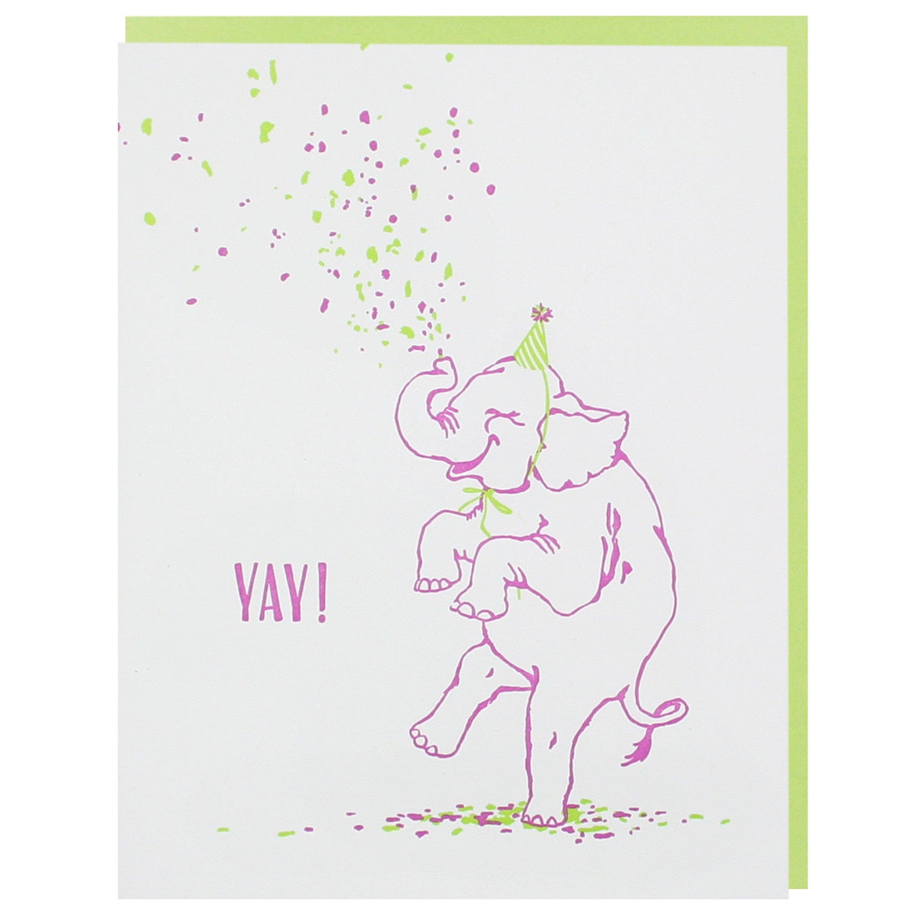 Elephant Birthday Card Happy Birthday Cards Smudge Ink