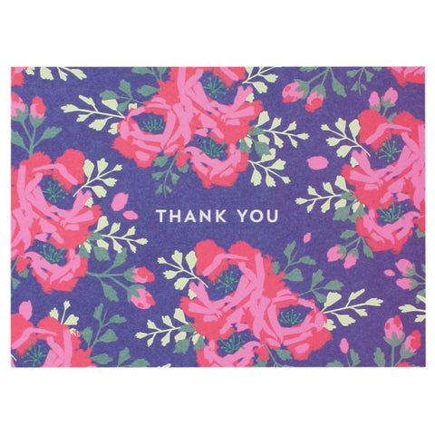 English Roses in Indigo Thank You Notes