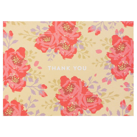 English Roses in Amber Thank You Notes