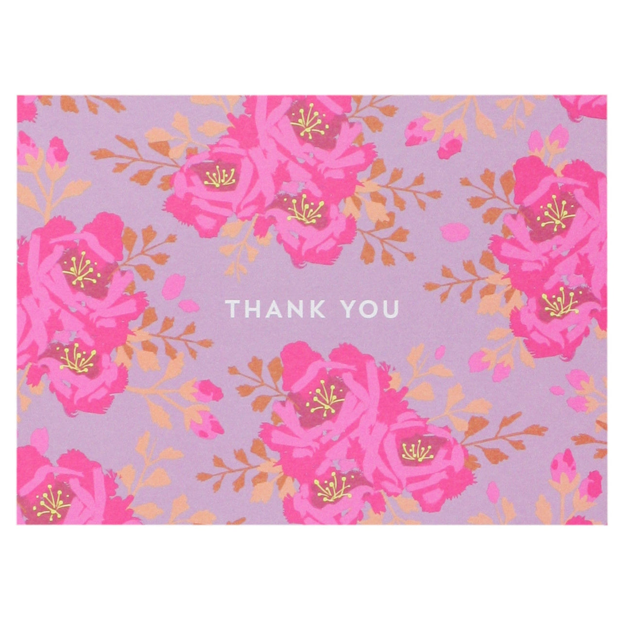 English Roses in Mulberry Thank You Note