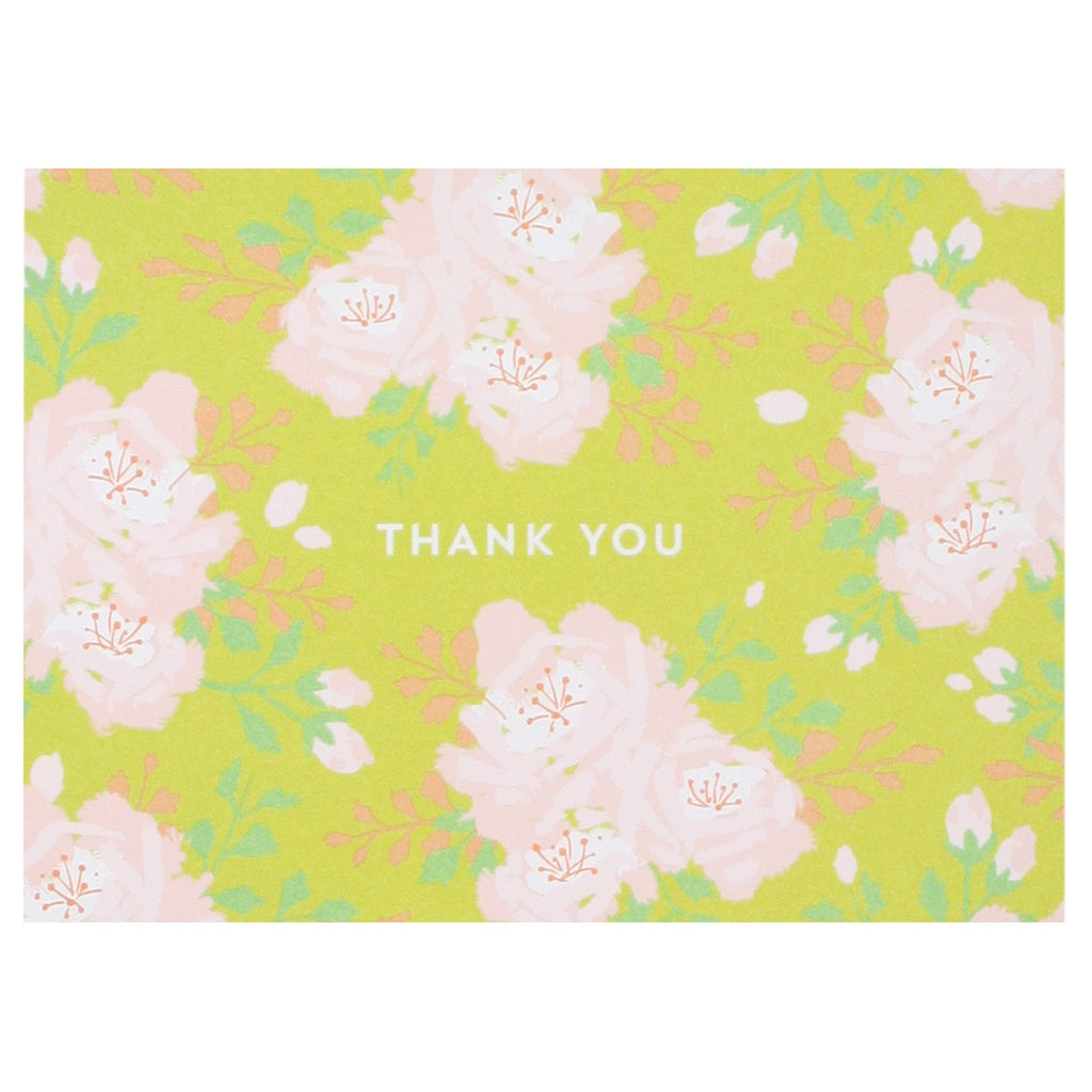 English Roses in Citrine Yellow Thank You Notes