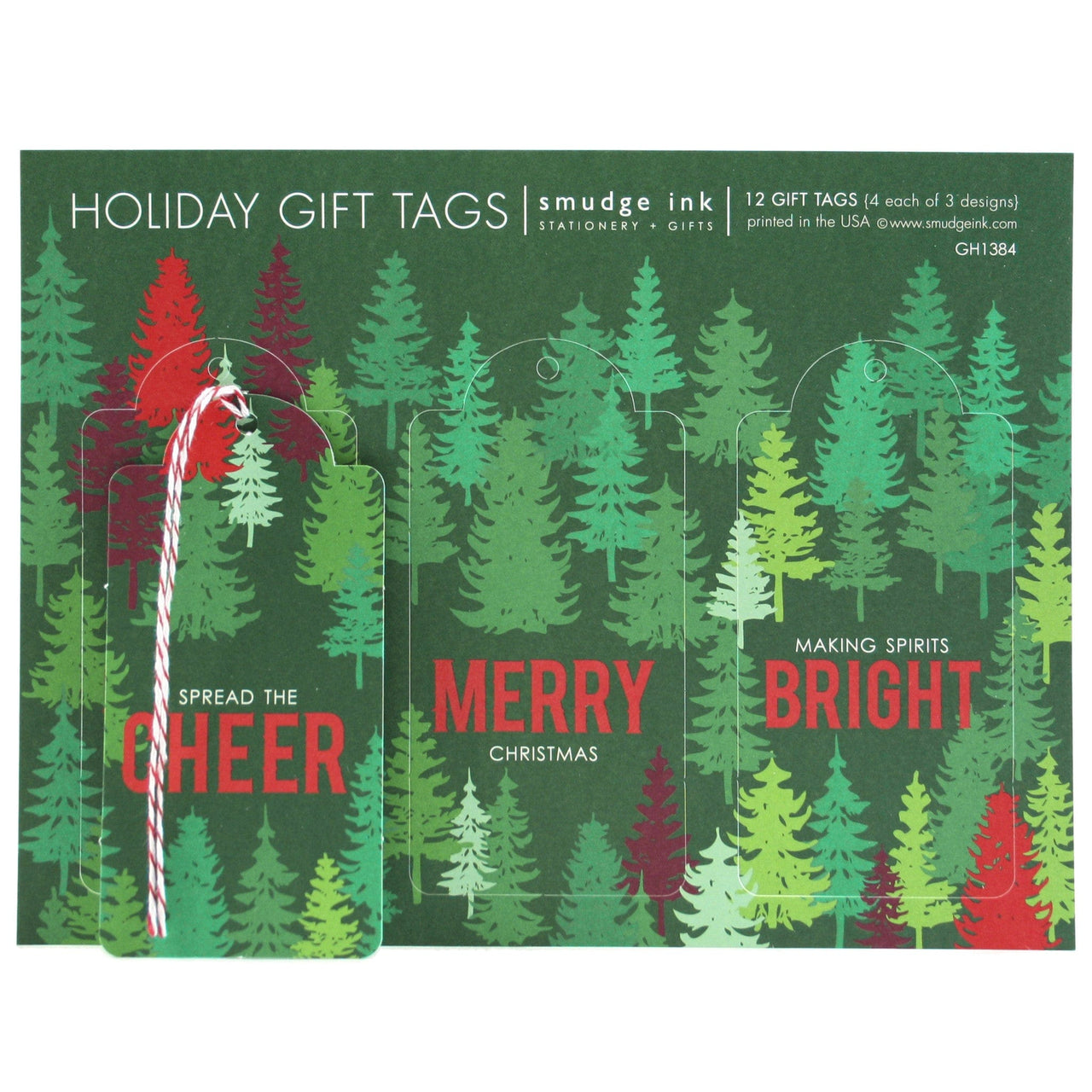 Evergreen Forest Gift Tags
