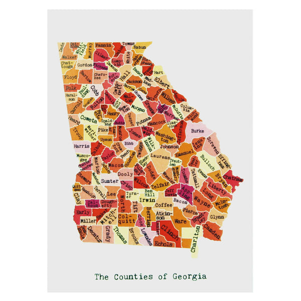 Map of Georgia Note Card