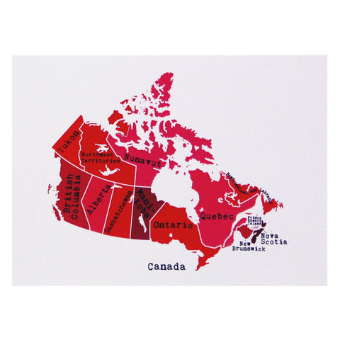 Map of Canada Note Card