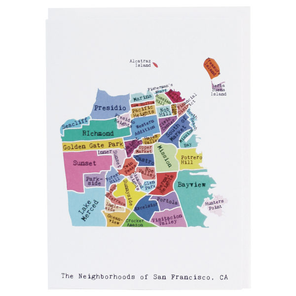 San Francisco Note Card (Rainbow)