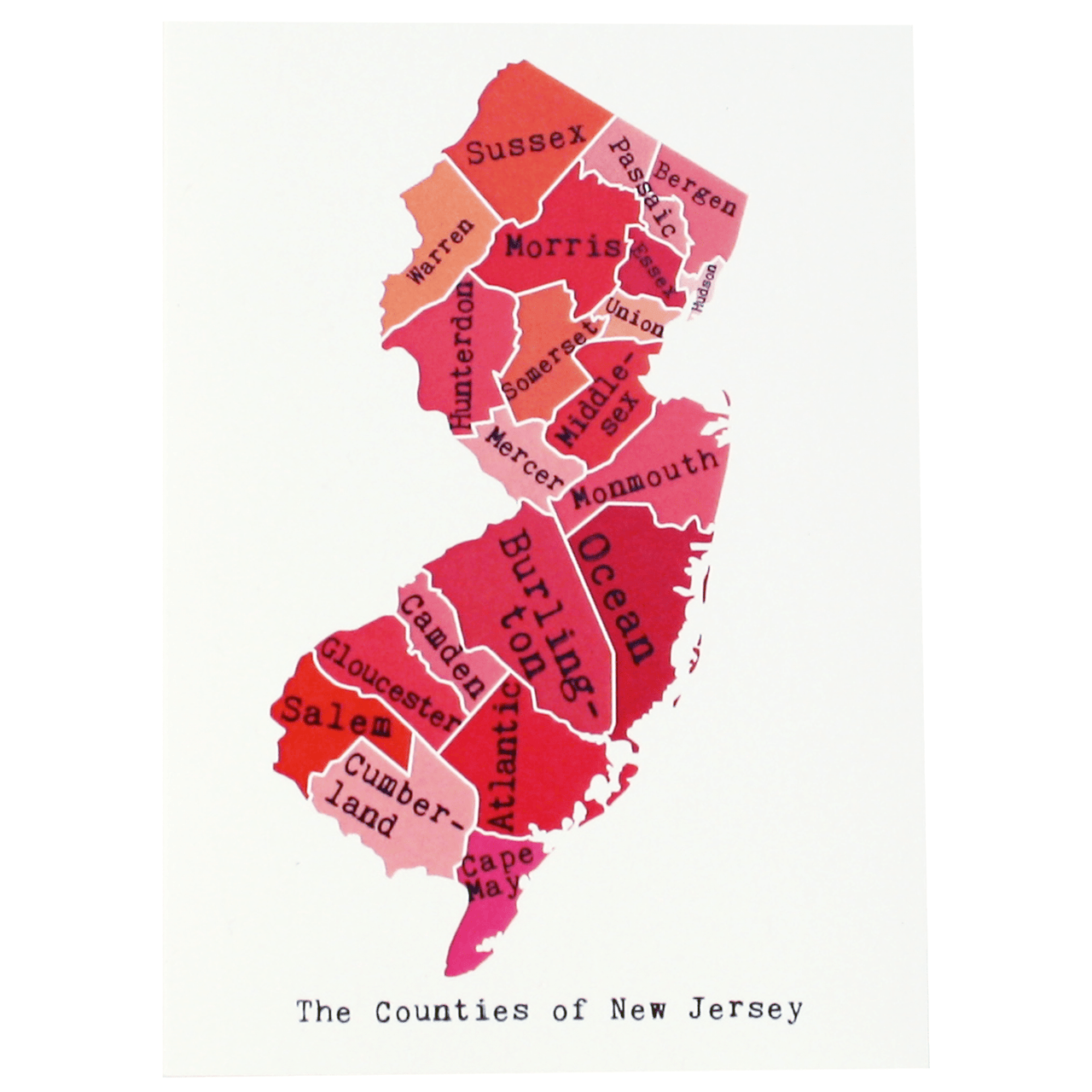 New Jersey Note Card