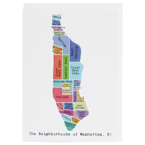 Manhattan Note Card (Rainbow)