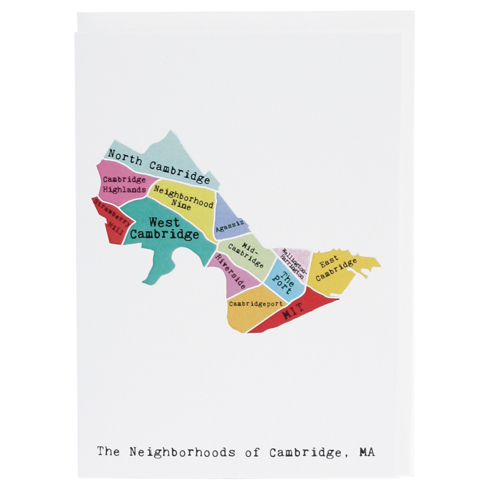 Map of Cambridge Note Card (Rainbow)