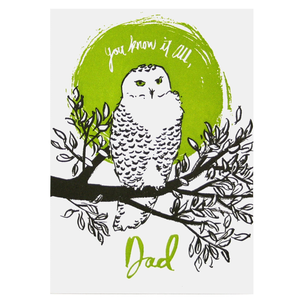 Dad Owl Father's Day Card