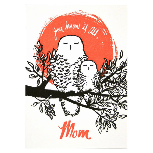 Mom Owl Mother's Day Card