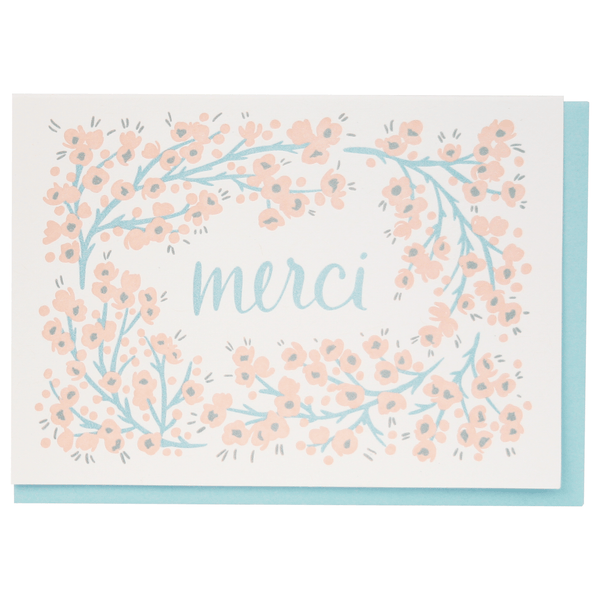 Wax Flower Merci Thank You Notes