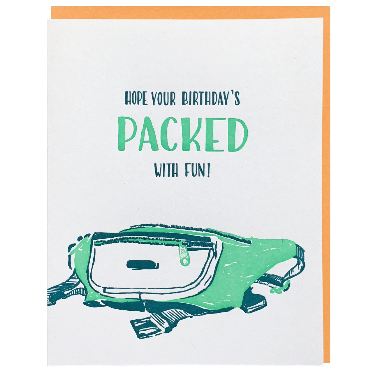 fanny pack birthday card - Birthday Card Packs