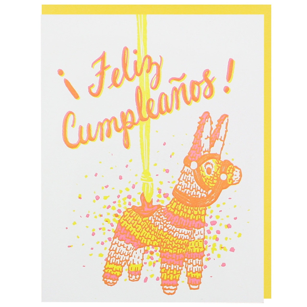 Feliz Cumpleanos Birthday Card Happy Birthday Cards Smudge Ink