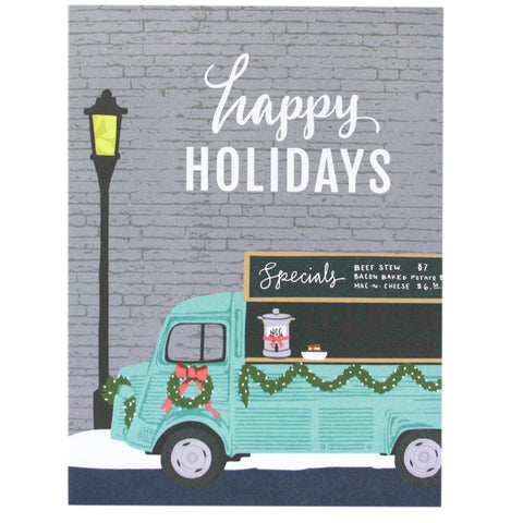 Festive Food Truck Holiday Card