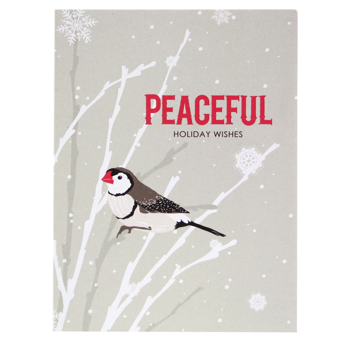 Finch in Snow Holiday Card