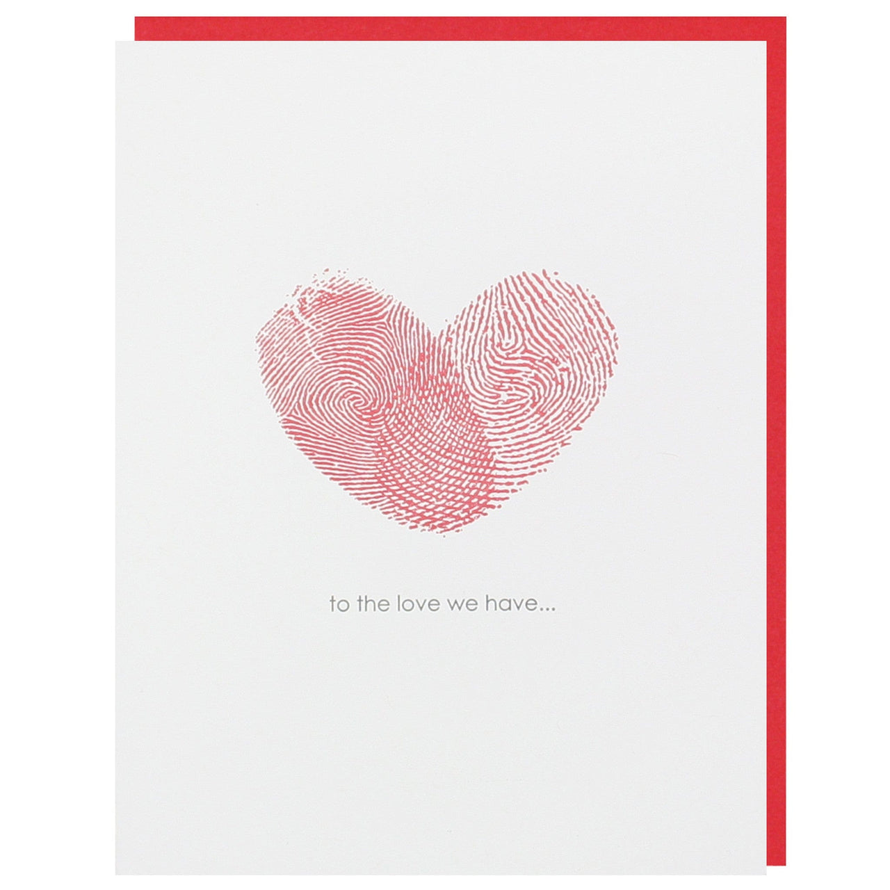 Fingerprint Heart Love Card