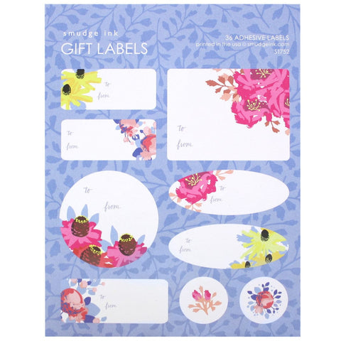 Floral Pop Gift Labels
